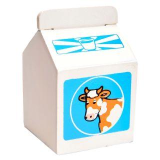 Wooden milk carton, per piece