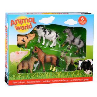 Farm animals Giftbox, 6pcs.