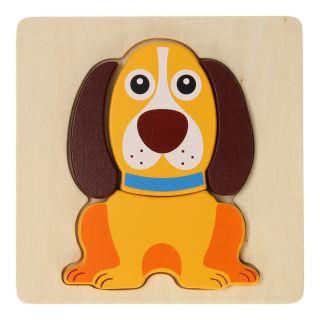 Jouéco Wooden Animal Puzzle - Dog