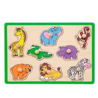 Jouéco Wooden Nozzle Puzzle - Wild Animals