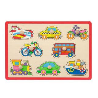 Jouéco Wooden Nozzle Puzzle - Vehicles