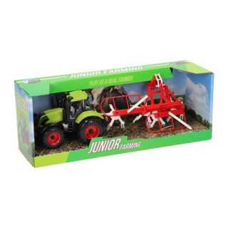 Tractor with Tedder