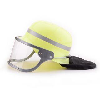 Fire helmet with visor