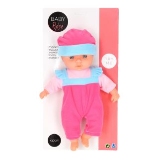 Baby Rose Baby Doll with Sound, 30cm.