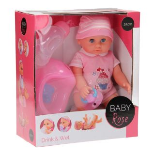 Baby Rose Drink and Plush Cup, 25cm