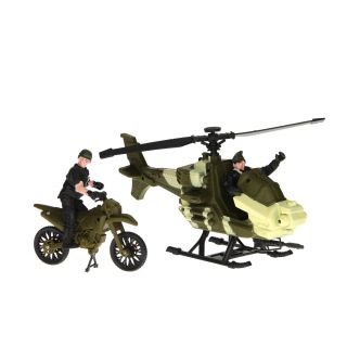 Army Forces Game Set - Helicopter and Motor