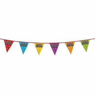 Flags line Happy Birthday, 8mtr.