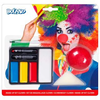 Face Paint Set Clown with Clown's Nose