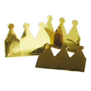 Crowns gold Metallic, 6pcs.