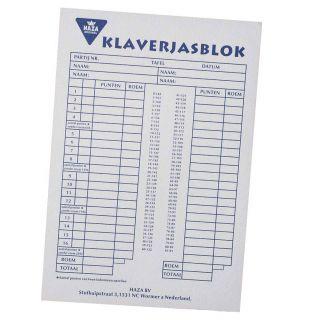 Klaverjas block, 50 sheets