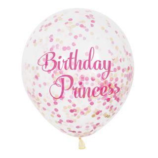 Confetti Balloons Princess, 6pcs.