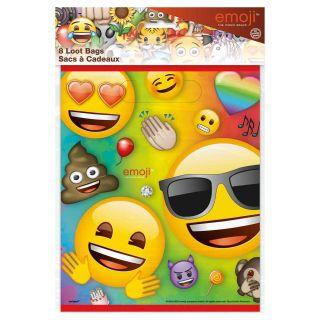 Emoji Loot bags, 8 pcs.