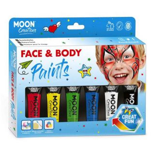 Face & Body Paint Make-up Set - Primary Colors