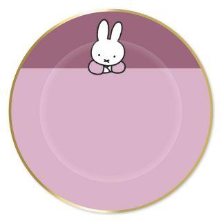 Plates Miffy Pink, 8pcs.