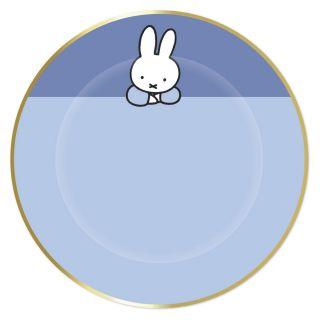 Plates Miffy Blue, 8pcs.