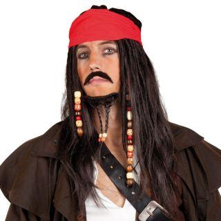 Tobias Wig With Bandana, Mustache And Beard