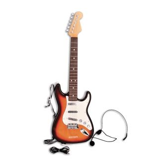 Bontempi Electric Guitar with Guitar Strap and Microphone