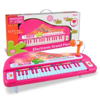 Bontempi Piano with Microphone - Pink