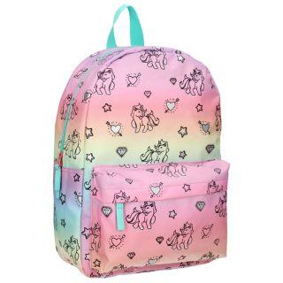 Milky Kiss Rainbow and Unicorns Backpack Large