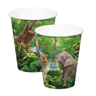 Safari cups, 8pcs.