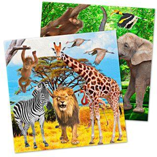 Safari napkins, 20pcs.