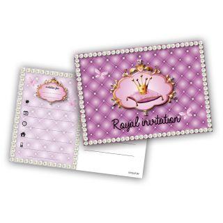 Princess invitations, 6pcs.