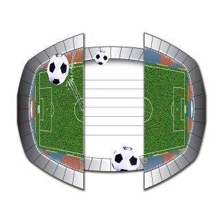 Football invitations, 8pcs.