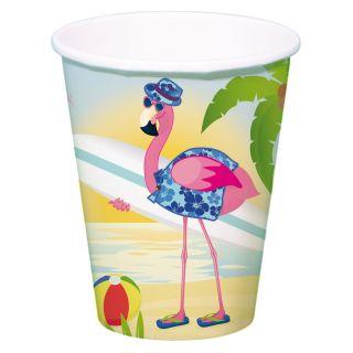 Cups Flamingo, 8st.