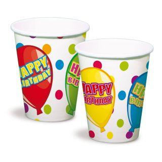 Cups Happy Birthday, 6st.