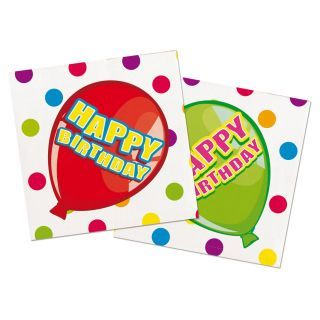 Napkins Happy Birthday, 16st.