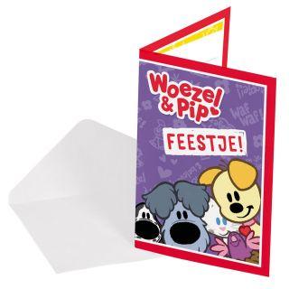 Woezel & Pip Invitations, 8pcs.