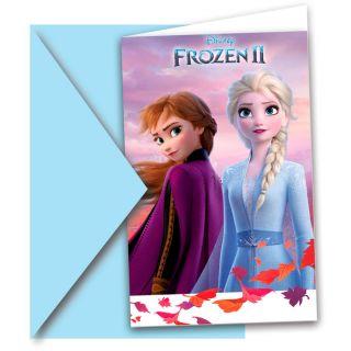 Disney Frozen 2 Invitations, 6pcs.