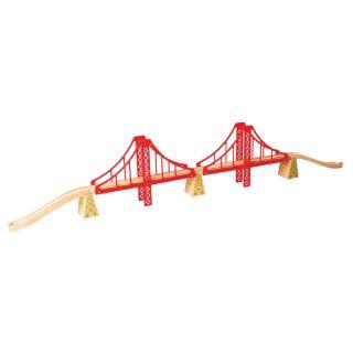 Wooden Rails-double suspension bridge, 7dlg.