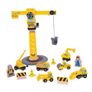 Wooden Crane & Construction Vehicles