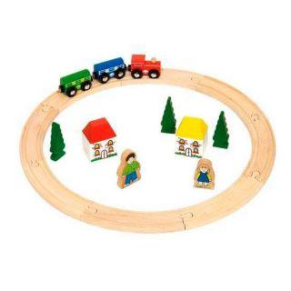 Wooden train set Junior, 20dlg.