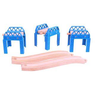 Wooden Rail bridge parts, 3pcs.