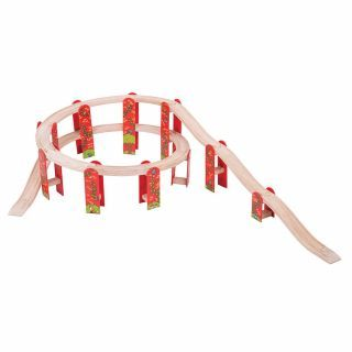 Wooden track-Viaduct extension set, 27dlg.