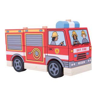 Wooden Bunk Game Fire Truck