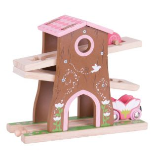 Wooden Fairy Rails - Treehouse Rollercoaster