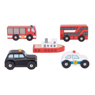 Wooden vehicles, 5st.