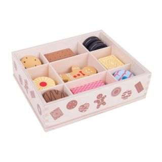 Wooden Box With Cookies