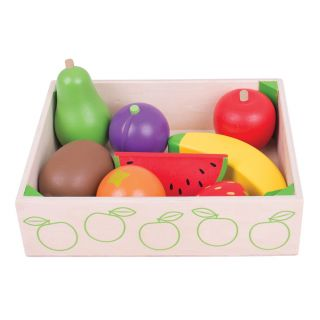 Wooden Box With Fruit