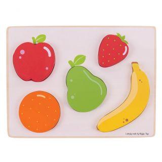 Wooden Puzzle Fruit, 5dlg.