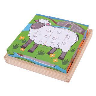 Wooden Block Puzzle Farm animals