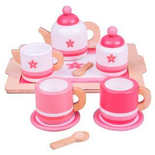 Wooden Tea set Pink