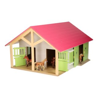 Horse stable Pink with 2 boxes and storage