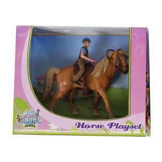 Kids Globe Playset Horse with Rider, 1:24