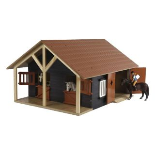 Kids Globe Horse stable with 2 Boxes and Storage, 1:24