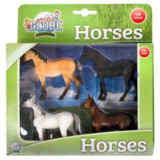 Kids Globe Horses, 4pcs. 1:32