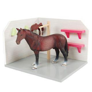 Kids Globe Horse Washbox Wood 1:24